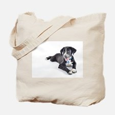 Funny Pointer and Lab Mix Tote Bag