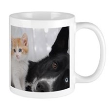 Cute Kitten and Dog Mug
