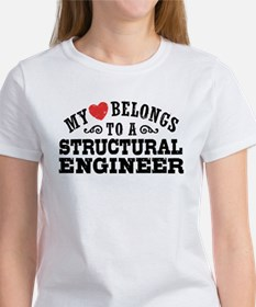 My Heart Belongs To A Structural Engineer Tee