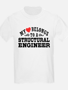 My Heart Belongs To A Structural Engineer T-Shirt