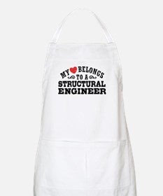My Heart Belongs To A Structural Engineer Apron
