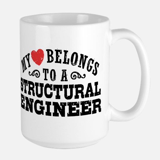My Heart Belongs To A Structural Engineer Large Mu