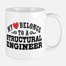 My Heart Belongs To A Structural Engineer Mug