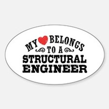 My Heart Belongs To A Structural Engineer Decal