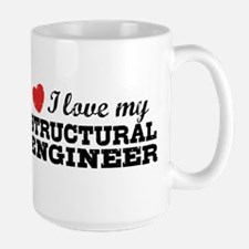 I Love My Structural Engineer Large Mug