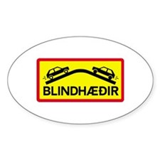 Blind Rises - Iceland Oval Decal