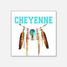 "Proud to be Cheyenne Square Sticker 3"" x 3"""