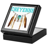 Cheyenne indian Square Keepsake Boxes