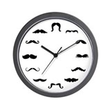 Mustache clock Wall Clocks
