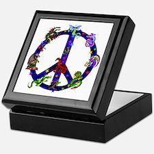 Dragons Peace Sign Keepsake Box
