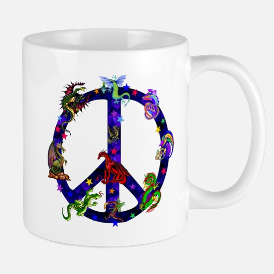 Dragons Peace Sign Mug