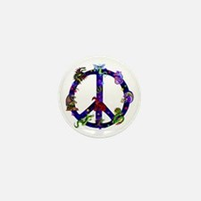 Dragons Peace Sign Mini Button