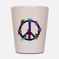 Dragons Peace Sign Shot Glass