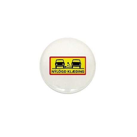 Newly-Laid Surface - Iceland Mini Button (100 pack