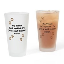 Well Trained Vizsla Owner Drinking Glass