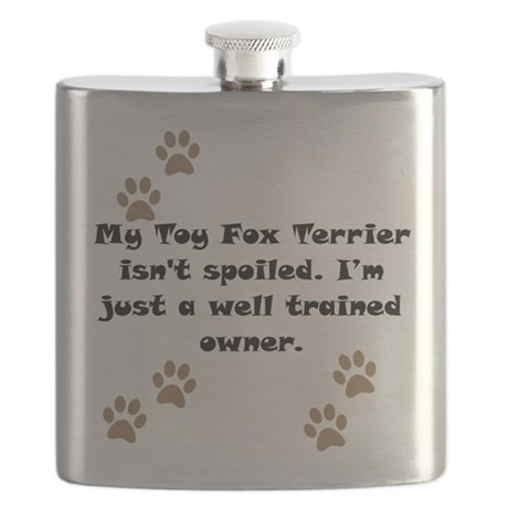 Well Trained Toy Fox Terrier Owner Flask