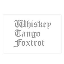 whiskey-tango-foxtrot-old-l-gray Postcards (Packag