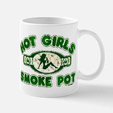 Weed Hot Girls Smoke Pot Mug