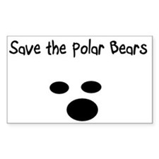 Save the polar bears Rectangle Decal