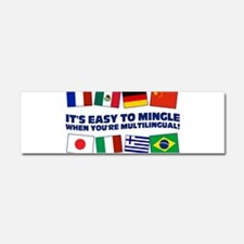 Its Easy to Mingle Car Magnet 10 x 3