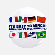"""Its Easy to Mingle 3.5"""" Button"""