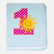 Sunshine 1st Birthday baby blanket