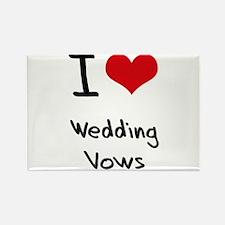 I love Wedding Vows Rectangle Magnet
