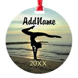 Gymnastics Round Ornament