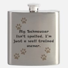 Well Trained Schnauzer Owner Flask