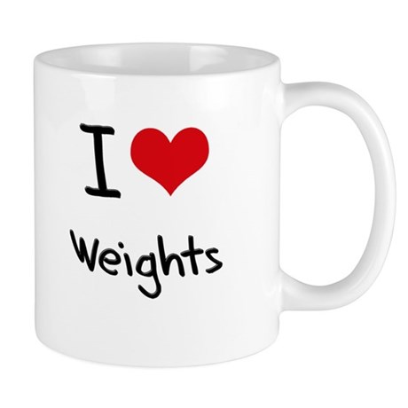 I love Weights Mug