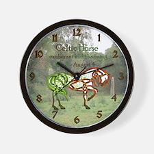 Celtic Horse Wall Clock