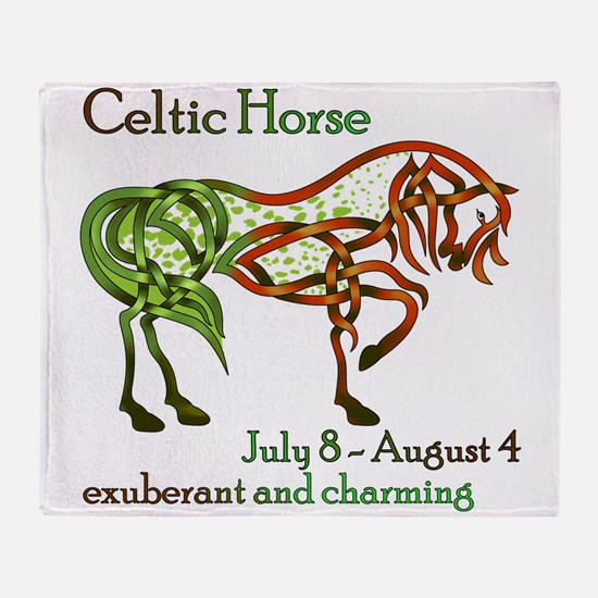 Celtic Horse Throw Blanket