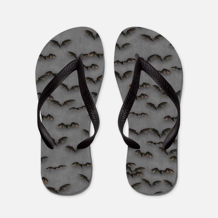Bats on Gray Flip Flops Flip Flops