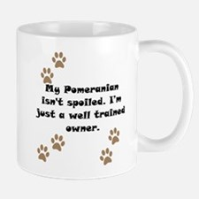 Well Trained Pomeranian Owner Small Mug
