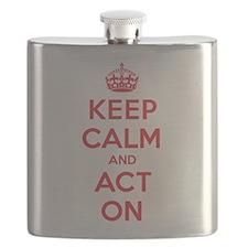 Keep Calm Act On Flask