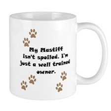 Well Trained Mastiff Owner Small Mug