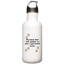 Well Trained Lhasa Apso Owner Sports Water Bottle