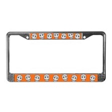 Row Of Sugar Skulls License Plate Frame