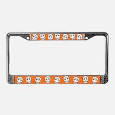 Row Of Sugar Skulls License Plate Frame