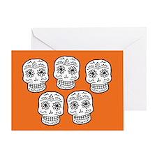 Row Of Sugar Skulls Greeting Card