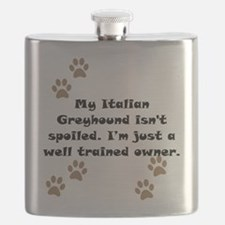 Well Trained Italian Greyhound Owner Flask