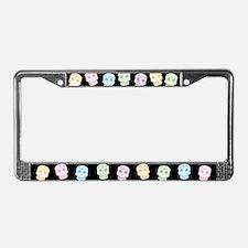 Colorful Sugar Skulls License Plate Frame