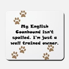 Well Trained English Coonhound Owner Mousepad