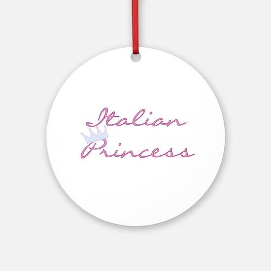 Italian Princess Ornament (Round)