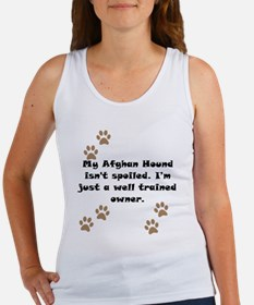 Well Trained Afghan Hound Owner Tank Top