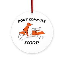 Don't Commute (Orange) Ornament (Round)