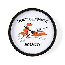 Don't Commute (Orange) Wall Clock