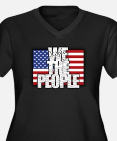 WE THE PEOPLE with Flag Plus Size T-Shirt