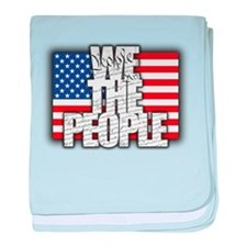 WE THE PEOPLE with Flag baby blanket