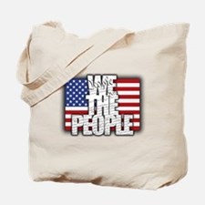 WE THE PEOPLE with Flag Tote Bag